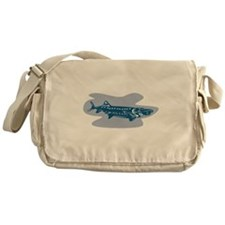 Sturgeon Fish Retro Messenger Bag