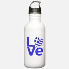 Blue Greek LOVE Sports Water Bottle
