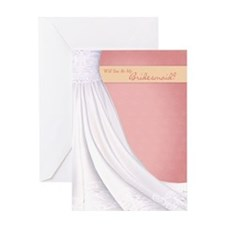 Will You Be My Bridesmaid Greeting Card Pink