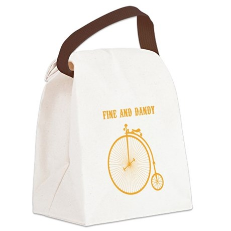 Fine and Dandy Canvas Lunch Bag