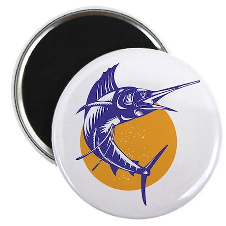 "Sailfish Fish Jumping Retro 2.25"" Magnet (10 pack)"