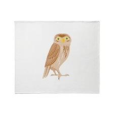 Owl Retro Throw Blanket