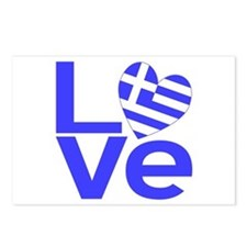 Blue Greek LOVE Postcards (Package of 8)