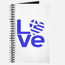 Blue Greek LOVE Journal