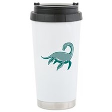 Loch Ness Monster Retro Travel Mug