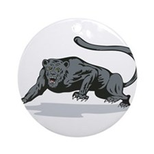 Jaguar Prowling Ornament (Round)