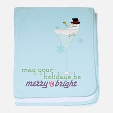 Merry And Bright baby blanket