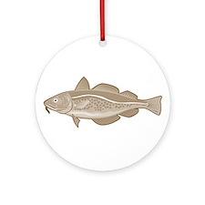 Atlantic Codfish Retro Ornament (Round)
