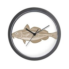 Atlantic Codfish Retro Wall Clock