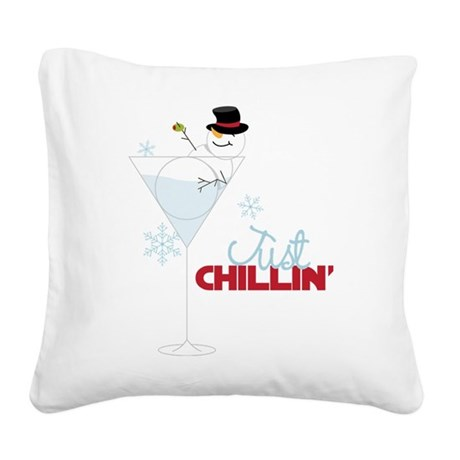 Just Chillin Square Canvas Pillow