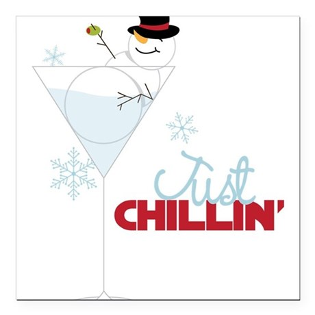 "Just Chillin Square Car Magnet 3"" x 3"""