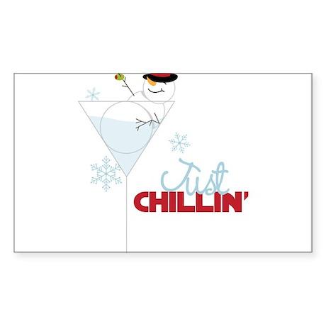 Just Chillin Sticker (Rectangle)
