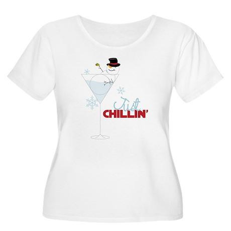 Just Chillin Women's Plus Size Scoop Neck T-Shirt