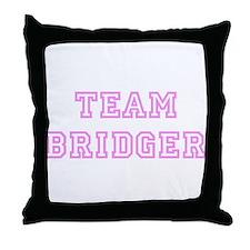 Pink team Bridger Throw Pillow