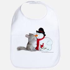 chinchilla and Snowman Bib
