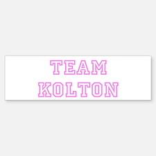 Pink team Kolton Bumper Bumper Bumper Sticker