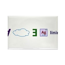 Every cloud has a silver lining Rectangle Magnet