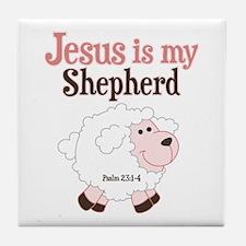 Jesus is Shepherd Tile Coaster