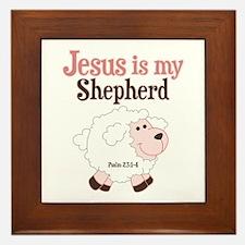 Jesus is Shepherd Framed Tile