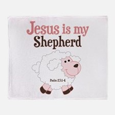 Jesus is Shepherd Throw Blanket