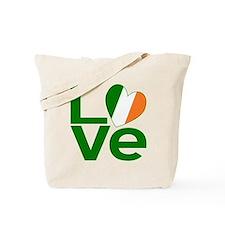 Irish Green LOVE Tote Bag