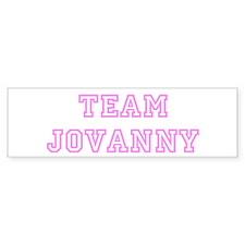 Pink team Jovanny Bumper Bumper Sticker