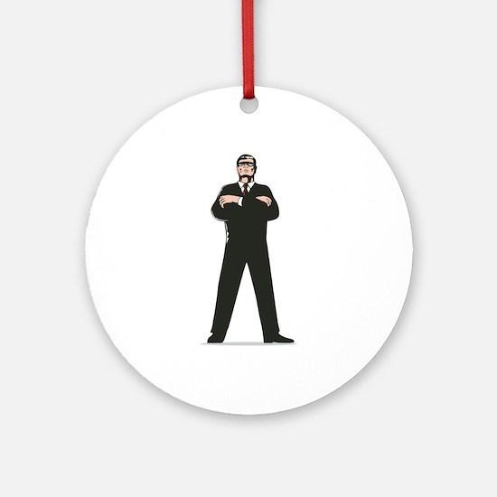 Secret Service Agent Body Guard Ornament (Round)