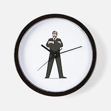 Secret Service Agent Body Guard Wall Clock