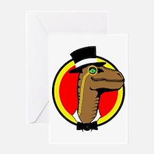 Dan the Dapper Raptor Greeting Card
