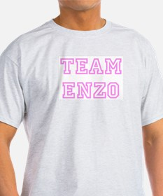 Pink team Enzo Ash Grey T-Shirt