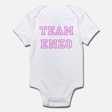 Pink team Enzo Infant Bodysuit
