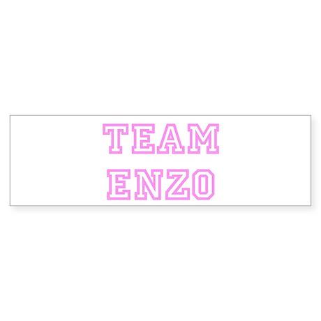 Pink team Enzo Bumper Sticker