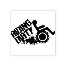 "Riding Dirty Square Sticker 3"" x 3"""