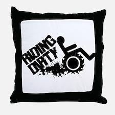 Riding Dirty Throw Pillow