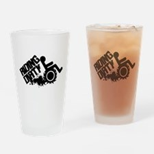 Riding Dirty Drinking Glass