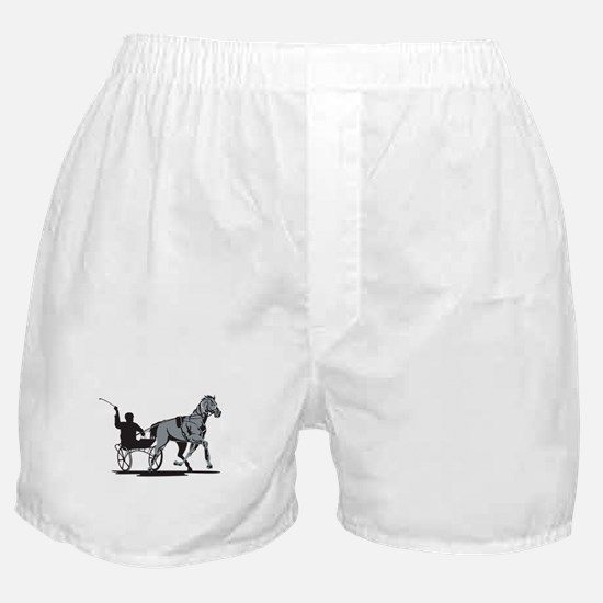 Horse and Jockey Harness Racing Boxer Shorts