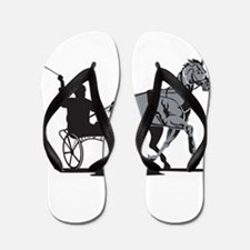 Horse and Jockey Harness Racing Flip Flops