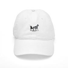 Horse and Jockey Harness Racing Baseball Cap