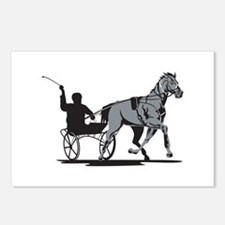 Horse and Jockey Harness Racing Postcards (Package