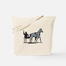 Horse and Jockey Harness Racing Tote Bag