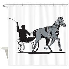 Horse and Jockey Harness Racing Shower Curtain