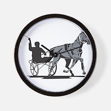 Horse and Jockey Harness Racing Wall Clock
