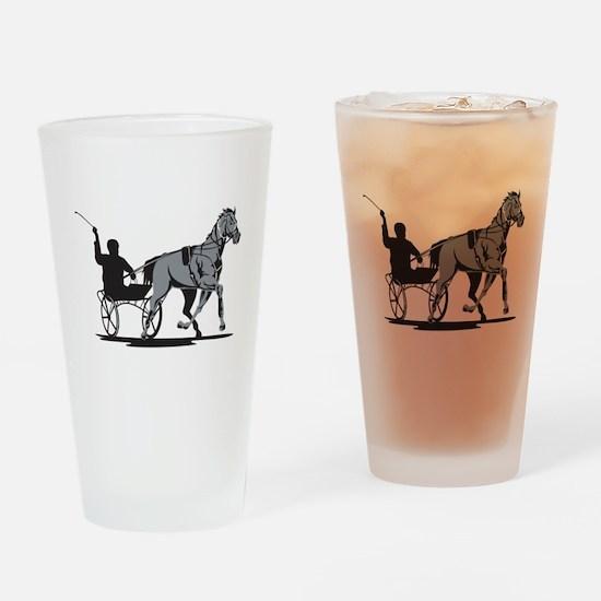 Horse and Jockey Harness Racing Drinking Glass