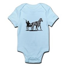 Horse and Jockey Harness Racing Infant Bodysuit