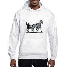 Horse and Jockey Harness Racing Hoodie