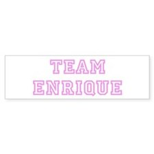 Pink team Enrique Bumper Bumper Sticker