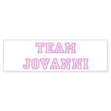 Pink team Jovanni Bumper Bumper Sticker