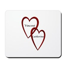 Vincent and Catherine Two Hearts Mousepad