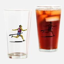 Marathon Runner Athlete Running Finish Line Drinki