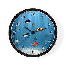Cute Tropical fish Wall Clock